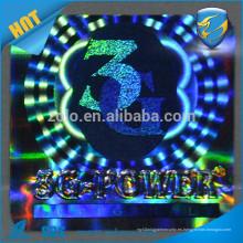 Alibaba china fabricante Shenzhen ZOLO etiqueta adhesiva de encargo