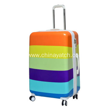 Expandable Wheeled Printing PC Luggage Set
