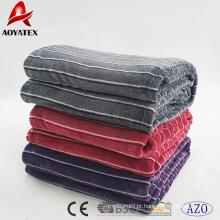 Venda quente sólida e grossa fio tingido flanela thorw cobertor com melhor preço
