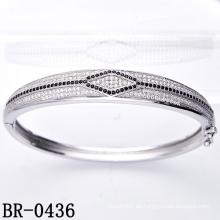 Micro Pave que fija el brazalete de la plata esterlina 925 (BR-0436)