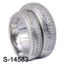 Стерлинговое серебро 925 прошивает микрокольца для пары (S-14583)