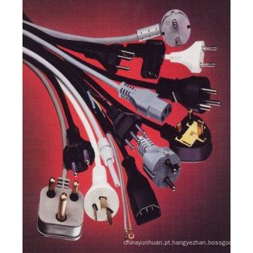 Vender o cabo de alimentação com ficha moldada e conector
