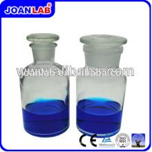 JOAN Botellas de reactivo de vidrio transparente para laboratorio con tapón