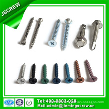 Cross Flat Head Colored Self Tapping Screw for Toy