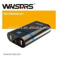 6600mAh batterie de secours, double charge de batterie de secours, avec LED Torch Function