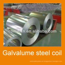 Aluzinc bobina de aço AZ100g/m2 galvanizada, chapa de aço Galvalume, China planta Comat Haida