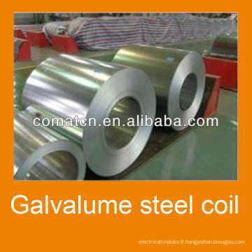 Aluzinc en bobine en acier AZ100g/m2, acier Galvalume, Chine usine Comat Haida