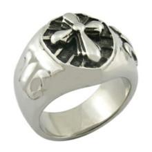 Bague en acier anneau croisé bijoux en gros