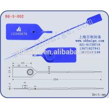 Kunststoffdichtung BG-S-002 für Sicherheitszwecke