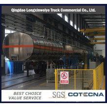Semi-remolque material del tanque de combustible de la aleación de aluminio 38cbm