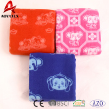 China manufacturer cheap 100% polyester printed polar fleece blanket