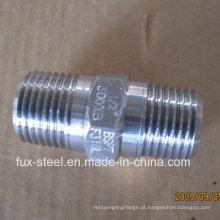BSPT rosca aço inoxidável 304/316 Hex mamilo fábrica direta