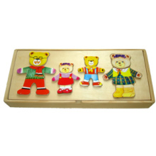 Wooden Dress up Bear (4 bears)