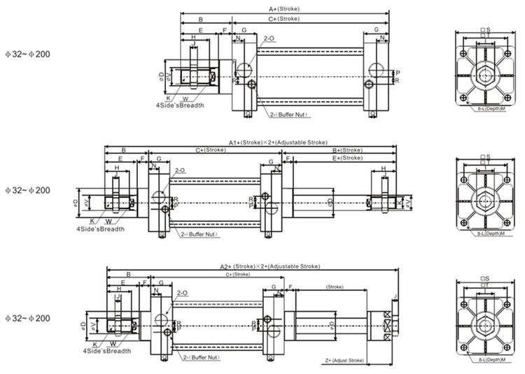 SC Series Standard Pneumatic Cylinder details