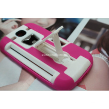 Combo Kickstand Mobile Phone Case for Samsung Galaxy S4