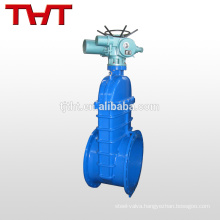 Electric resilient wedge non rising stem motorised gate valve