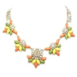 Acrylic Stones Crystal Fashion Jewelry Necklace