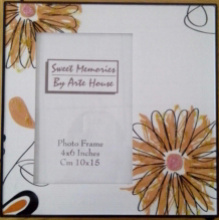 4x6inch Flower Glass Photo Frame