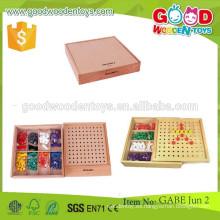 Los juguetes de madera vendedores calientes continuos de los juguetes OEM ocho colorean los juguetes educativos de los cabritos