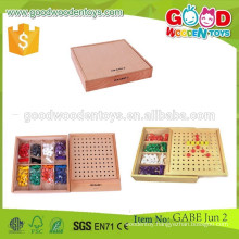 continued hot selling wooden toys beads OEM eight colors educational kids toys beads