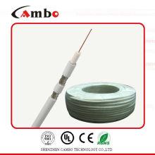 Cable coaxial de la línea de transmisión siamesa del cambo RG59 de la alta calidad 75ohm / 50ohm con CCS / BC CE / UL / fábrica / fabricante en shenzhen / China