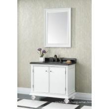 Wooden One Main Cabinet Mirrored Modern Bathroom Cabinet (JN-8819716B)