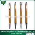 Caneta de bambu ecológica com caneta de toque