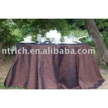 Cubiertas de tabla, mantel del pintuck camaleón, lino de tabla del hotel/partido