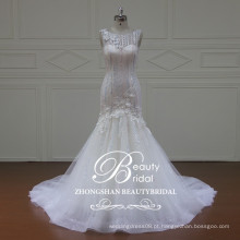 XF16065 de alta qualidade sereia vestido de noiva vestidos de casamento para mulheres