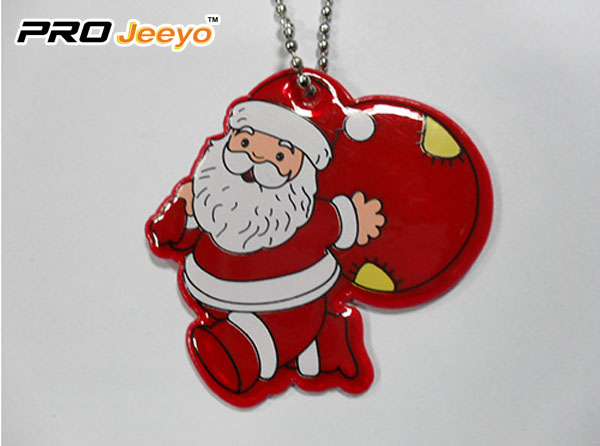Reflective Leather Santa Claus with Gifts Bag Pendant RV-213A 1