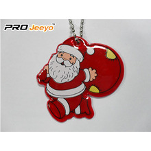 Reflective Leather Santa Claus with Gifts Bag Pendant