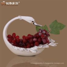 Guangzhou pièces de décoration maison sculpture animale polyresin assiette de cygne