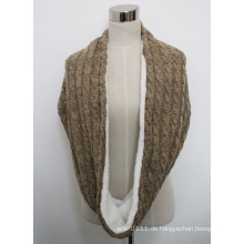 Lady Winter Fashion Acryl Pelz gestrickter Schal (YKY4381)