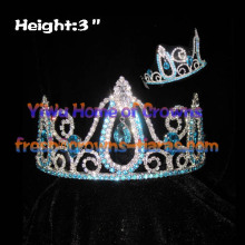 3 inch Blue Diamond Pageant couronnes