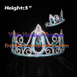 3inch Blue Diamond Pageant Crowns
