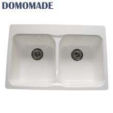Matt weiß / glänzend weiß hochtemperaturbeständige Waschtischplatte mit rechteckiger Spüle