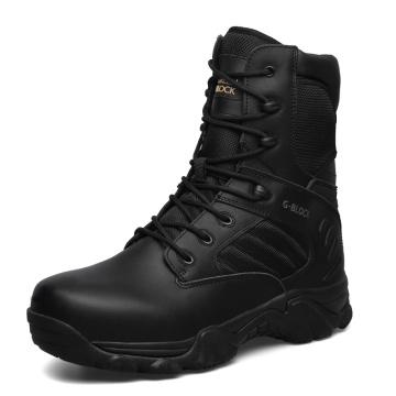 Hochwertige Echtleder-Militärstiefel und Polizei-Taktische Stiefel (31002)