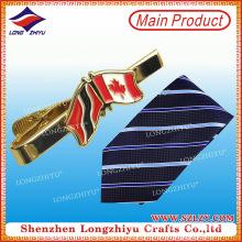Pin de corbata de metal de encargo de encargo de la corbata de la bandera de la nación del logotipo de la moda