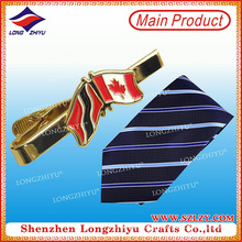 Fashion Cheap Custom Logo Nation Flag Necktie Pin Metal Tie Clip