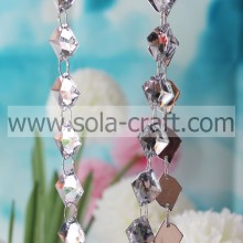 13 * 18 MM Clear White Twist Leaf Diamond Swing Crystal Garland voor vakantie of feest