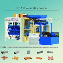 QT12-15 fully automatic colour face paving block producing line