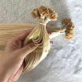 Blonde U-tip pre-bonded fusion human hair extensions