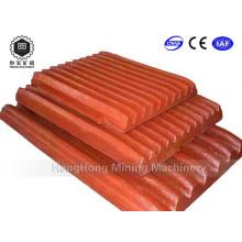 Pièces de rechange de broyeur de mâchoire Plaque de mâchoire en acier de manganèse