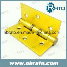 Charnière continue en aluminium plaqué or