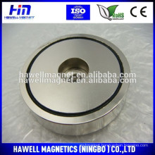Powerful Neodymium holding magnets /Round Base Magnet with Countersunk Hole