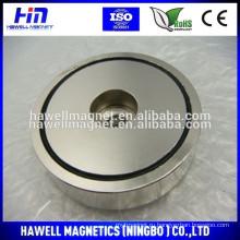 Мощные неодимовые магниты для удерживания / круглый магнит с отверстием с потайной головкой