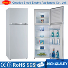 Compressor Double Door Refrigerator Freezer for Home Use
