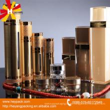 Gold-Stanz-Airless-Flasche und Glas für Körper-Creme-Container