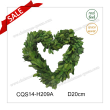 D20cm Decoración de la boda Preservado Boxwood Wreath Craft