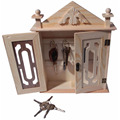 Organizador chave da parede / armário chave - armário de armazenamento chave de madeira natural